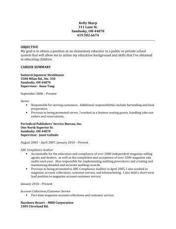 Microsoft Word - klsharp_resume - BGSU Blogs - Bowling Green ...