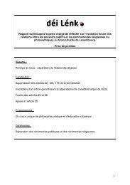Déi Lénk - Gouvernement du Grand-Duché de Luxembourg