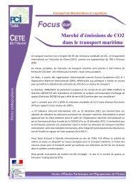 Marché d'émissions de CO2 dans le transport ... - CETE de l'Ouest