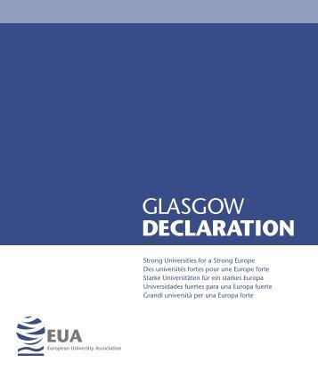 GLASGOW DECLARATION - European University Association