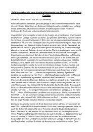 Erfahrungsbericht vom Auslandssemester am Dickinson College in ...