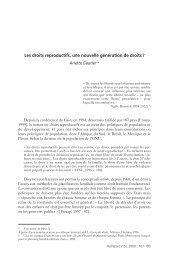 Les droits reproductifs, une nouvelle génération de droits ? - IRD