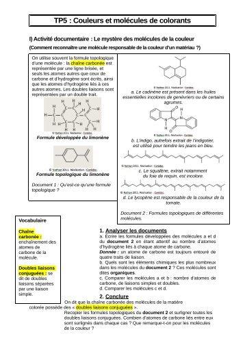 Molécules et colorants