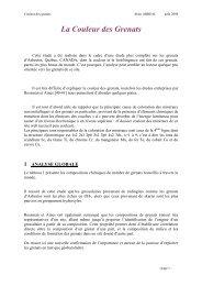 La Couleur des Grenats - Page perso minéraux Alain ABREAL ...