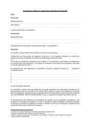 Convention relative à l'usage des détecteurs d'incendie