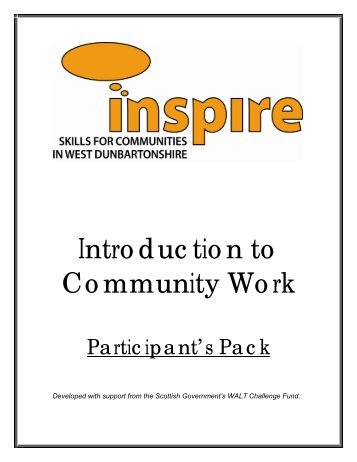 Basic Introduction to Community Work - Central