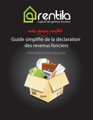 Guide simplifié de la déclaration des revenus fonciers - Rentila.com