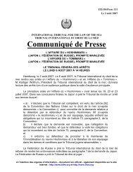 INTERNATIONAL TRIBUNAL ITLOS - International Tribunal for the ...