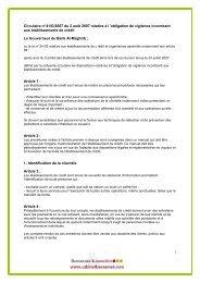 Circulaire n° 41/G/2007 du 2 août 2007 relative à l'obligation de ...