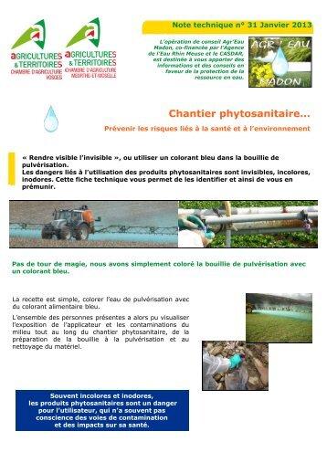 Tenue du registre phytosanitaire la chambre d 39 agriculture de - Chambre d agriculture moselle ...