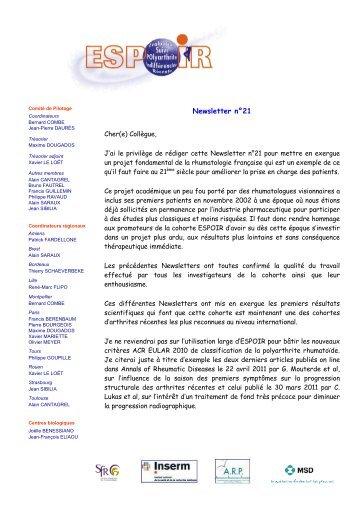 Newsletter n°21 - La cohorte ESPOIR