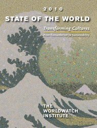 State of the World 2010, Transforming Cultures, From - Worldwatch ...