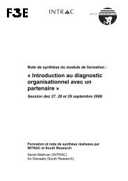 Introduction au diagnostic organisationnel avec un partenaire - F3E