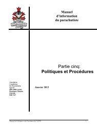 Manuel de Politiques et Procédures