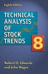 Technical analysis of stock trends - 8th edition