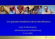 Les grandes tendances de la microfinance - Aldefi