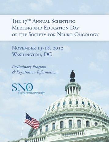 2012 sno preliminary program - 10-03-12