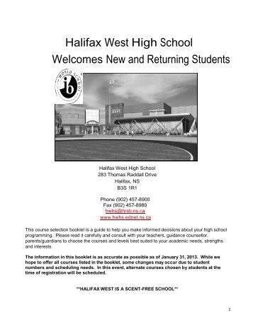a PDF copy of our 2013-2014 Course Guide! - Halifax West High ...