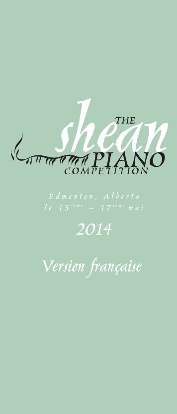 2014 Version française - The Shean Strings and Piano Competition