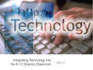 Integrating Technology into the K-12 Science Classroom - blogs