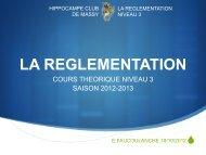 LA REGLEMENTATION - Hippocampe Club de Massy