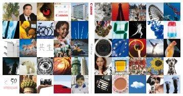 Livre 50 ans de Canon en Europe 1937 2007 - Canon France
