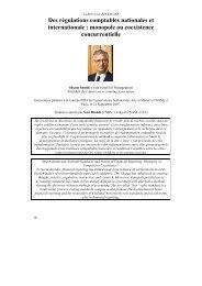 Des régulations comptables nationales et internationale : monopole ...