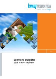 Isolation des toitures inclinées - Knauf Insulation