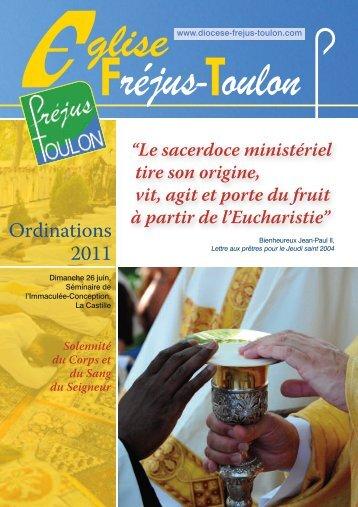 Livret Ordinations 2011 - Diocèse Fréjus-Toulon