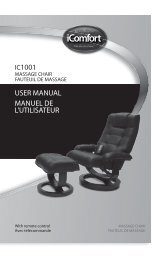 IC1001 USER MANUAL MANUEL DE L'UTILISATEUR - iComfort