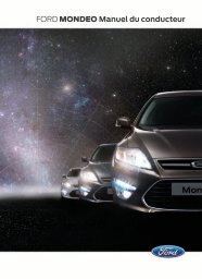 FORD MONDEO Manuel du conducteur - Ford MAROC