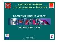 Saison 2005/2006. - Lutte Olympique et Educative