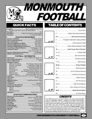 QUICK FACTS TABLE OF CONTENTS - Monmouth University