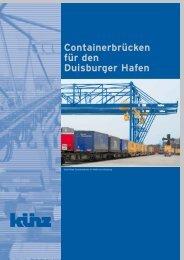 Containerbrücken für den Duisburger Hafen