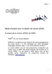 Mode d'emploi pour le dessin de cartes sCOOL - ocad.com