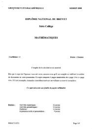 DIPLÔME NATIONAL DU BREVET - Warmaths