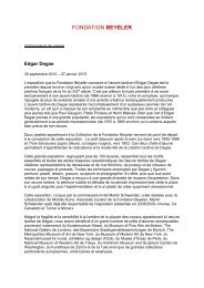 Edgar Degas - Fondation Beyeler