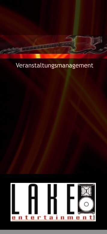 Veranstaltungsmanagement - LAKE Entertainment