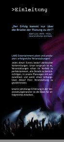 Veranstaltungsmanagement - LAKE Entertainment - Seite 3