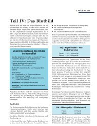 Teil IV: Das Blutbild - Bluter-Info.de