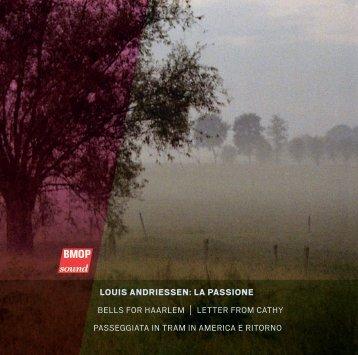 louis andriessen: la passione - Boston Modern Orchestra Project