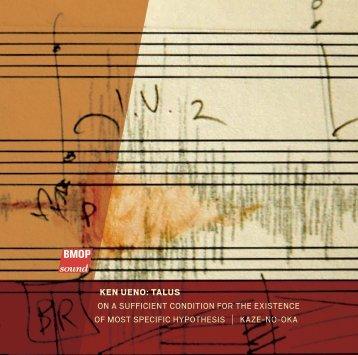 Ken Ueno: TalUs - Boston Modern Orchestra Project