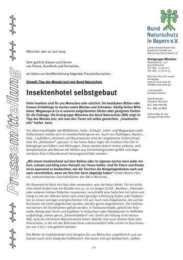 Insektenhotel selbstgebaut - Bund Naturschutz