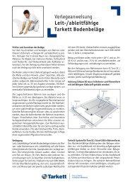 Verlegeanweisung Leit-/ableitfähige Tarkett Bodenbeläge