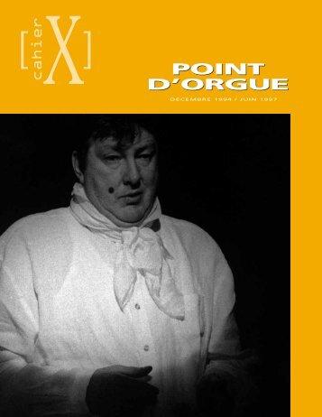 Point d'orgue - Nouveau Théâtre Expérimental
