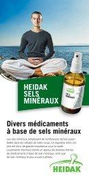 Divers médicaments à base de sels minéraux - Heidak AG