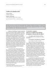 Cultiver la biodiversité - Inra