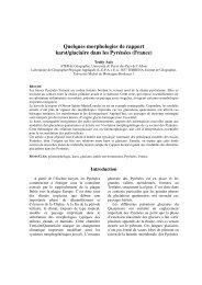 Quelques morphologies de rapport karst/glaciaire dans les ...