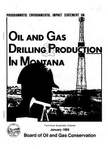 TechAppendix - Montana Board of Oil and Gas