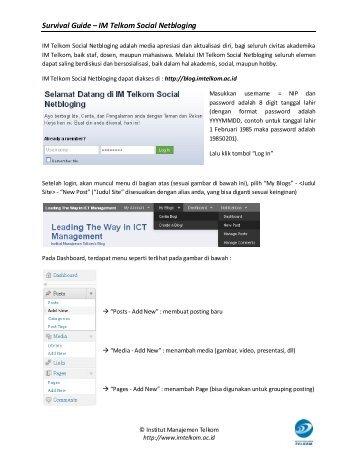 Manual Singkat Blog IM Telkom - Institut Manajemen Telkom